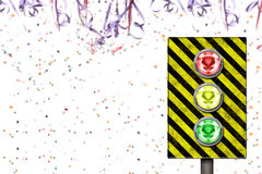 Carnival traffic time. Traffic light Stock Photography