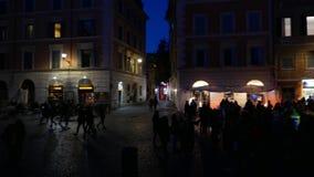 Carnival in Trastevere stock video footage