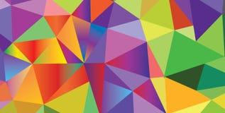 Carnival poligonart vector icon triangular. Triangle Pattern of Carnival, Festival, Masquerade Mardi Gras invitation poligonal colorful background design Stock Photo
