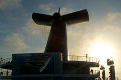 Carnival Triumph Main Stack Fun Ship Freddie Royalty Free Stock Image