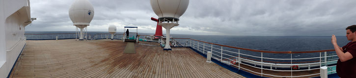 Carnival Triumph Panaroma Shot Taken from Top Deck Stock Photos