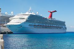 Carnival Triumph Profile while Docked in Port Royalty Free Stock Image