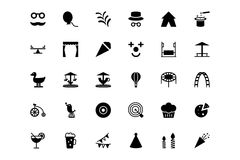 Carnival Vector Icons 3 royalty free illustration