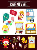 Carnival vector set Royalty Free Stock Image