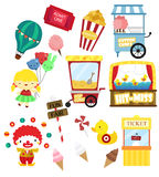 Carnival vector set (no background) Stock Images