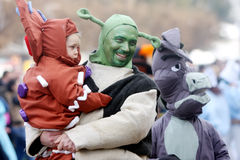 Carnival in Velika Gorica - Topics Shrek Stock Photography