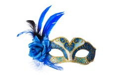 Carnival Venetian mask. Isolated on white background Stock Photos
