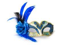 Carnival Venetian mask. Isolated on white background Stock Image
