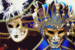 Carnival venetian masks Stock Photos
