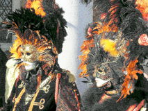 Carnival, Venezia, costumes and masks 14 Royalty Free Stock Photo