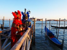 Carnival in Venice. An unidentified people in a carnival costume attend the end Carnival of Venice,  February 21, 2012 in Venice, Italy Royalty Free Stock Images