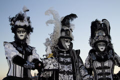 Carnival Venice. Masked people in the city of venice at carnival 2013 at downing stock photo