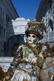 Carnival Venice. Each day the masked present their masks during carnival 2013. Clothed in fantastic costumes on San Marco Royalty Free Stock Image