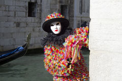 Carnival Venice. Each day the masked present their masks during carnival 2013. Clothed in fantastic costumes on San Marco Stock Photography