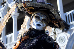 Carnival Venice. Each day the masked present their masks during carnival 2013. Clothed in fantastic costumes in front of Doge's Palace Stock Image