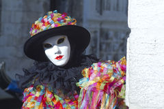 Carnival Venice. Each day the masked present their masks during carnival 2013. Clothed in fantastic costumes on San Marco Royalty Free Stock Images