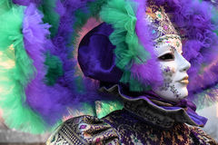 Carnival of Venice, beautiful masks , Italy. Color mask and costume of Venetian carnival Venice - Italy stock images