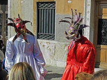 Carnival in Venice,5,costumes and masks Royalty Free Stock Photos