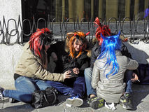 Carnival in Venice,16,costumes and masks Stock Photos