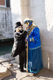 Carnival in Venice. A couple with the masks during Carnival in Venice Royalty Free Stock Image