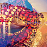 Carnival of venice, double exposure Stock Images