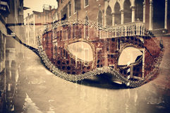 Carnival of venice, double exposure stock photo