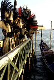 Carnival- Venice, Italy. Elaborately dressed Carnivale figures- Venice, Italy Stock Images