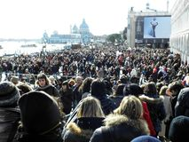 Venice carnival`s crowd,3. Carnival in Venice, Italy, Europe, fancy crowd, 3 Stock Photography