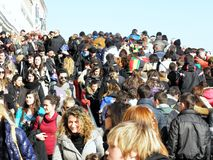 Venice carnival`s crowd,6. Carnival in Venice, Italy, Europe, fancy crowd, 6 Stock Photography
