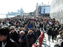 Venice carnival`s crowd,5. Carnival in Venice, Italy, Europe, fancy crowd, 5 Royalty Free Stock Image