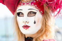 Carnival of Venice masks. VENICE, ITALY - FEBRUARY 27, 2014. Unidentified person in Carnival mask in Venice, Italy on February 2014 Stock Image