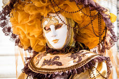 Carnival of Venice masks. VENICE, ITALY - FEBRUARY 27, 2014. Unidentified person in Carnival mask in Venice, Italy on February 2014 Stock Photos
