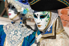 Carnival of Venice masks. VENICE, ITALY - FEBRUARY 27, 2014. Unidentified person in Carnival mask in Venice, Italy on February 2014 Royalty Free Stock Images