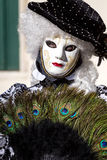 Carnival of Venice masks. VENICE, ITALY - FEBRUARY 27, 2014. Unidentified person in Carnival mask in Venice, Italy on February 2014 Stock Images