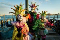 Carnival of Venice masks Stock Photography