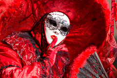 Carnival of Venice masks. VENICE, ITALY - FEBRUARY 27, 2014. Unidentified person in Carnival mask in Venice, Italy on February 2014 Royalty Free Stock Photography