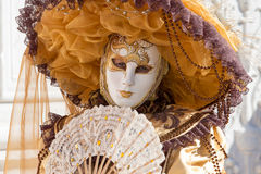 Carnival of Venice masks. VENICE, ITALY - FEBRUARY 27, 2014. Unidentified person in Carnival mask in Venice, Italy on February 2014 Stock Photo