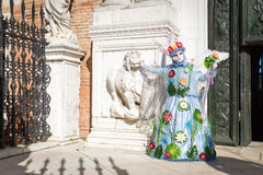 Carnival of Venice masks. VENICE, ITALY - FEBRUARY 27, 2014. Unidentified person in Carnival mask in Venice, Italy on February 2014 Royalty Free Stock Photo
