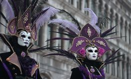 Carnival in Venice. One of the most beautiful carnivals in the world in the city, Venice, the most beautiful in the world royalty free stock image
