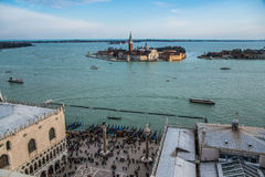Carnival in Venice from top of San Marcos Stock Image