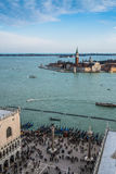 Carnival in Venice from top of San Marcos Royalty Free Stock Image