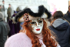 Carnival of Venice - Venetian Masquerade Royalty Free Stock Images