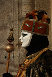 Carnival of Venice - Venetian Masquerade. Costumes and mask in Venice Carnival. Deceit, mystery, fun and secret behind the masks of Venice. Every year in late Royalty Free Stock Photography