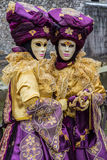 Carnival Venitien d' Annecy 2013 - Twins Stock Photos