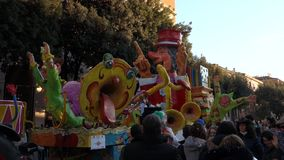 Carnival of Verona,Italy stock footage