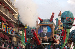 Carnival of Viareggio. A float from the parade of Viareggio royalty free stock photo