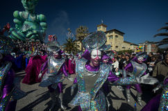 Carnival of Viareggio 2011, Italy Royalty Free Stock Images