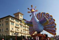 Carnival of Viareggio. VIAREGGIO - FEBRUARY 26 : the parade of carnival floats, February 26,2012 in Viareggio,Italy stock photo