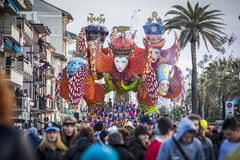Carnival of Viareggio stock photography