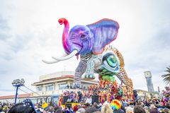 Carnival of Viareggio Stock Photography